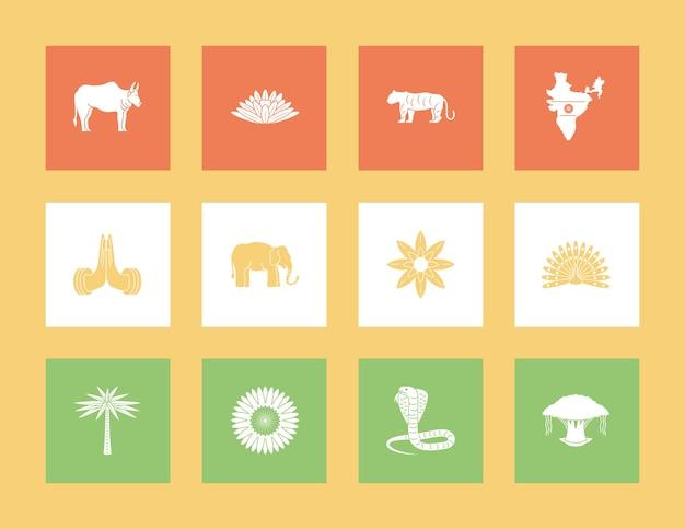 Set di cultura indiana