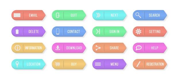 Set di banner infografica Vettore Premium