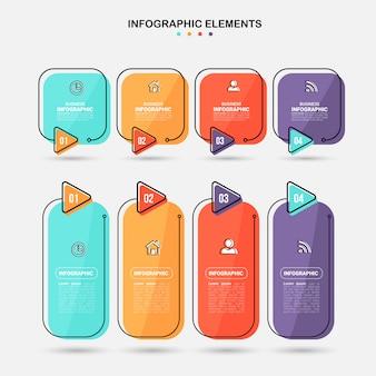 Insieme di elementi di infografica.