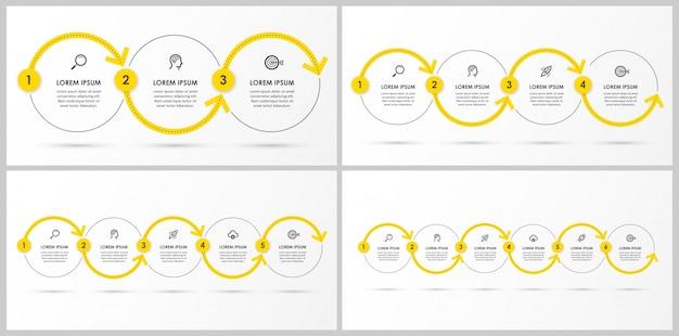Set di modello di infografica