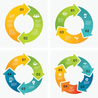 Set di modelli di infografica