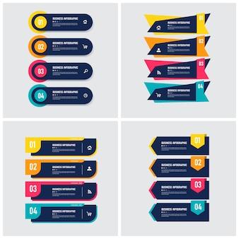 Set di modello di elemento infografica