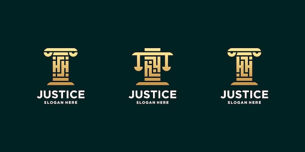 Set di lettere iniziali hh logo dello studio legale