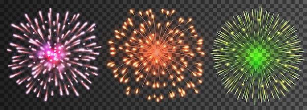 Set di fuochi d'artificio isolati