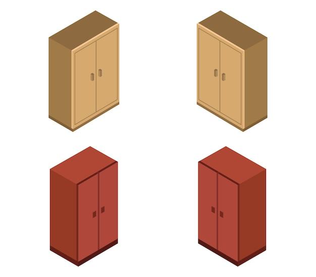 Set di armadi isometrici