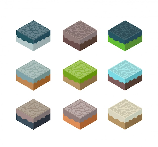 Una serie di terreni isometrici