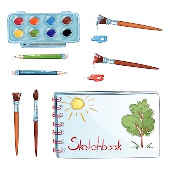 Un insieme di oggetti per disegnare