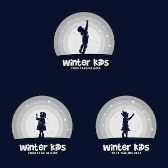 Set di bambini sogno logo design