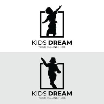 Set di design del logo dei sogni dei bambini