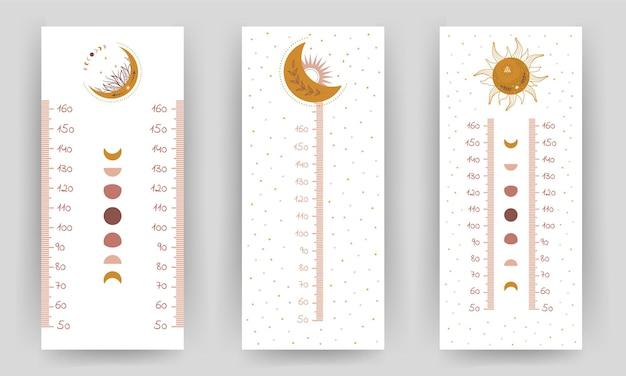 Set di tabella di altezza per bambini