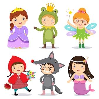 Set di bambini che indossano in tema di fiaba