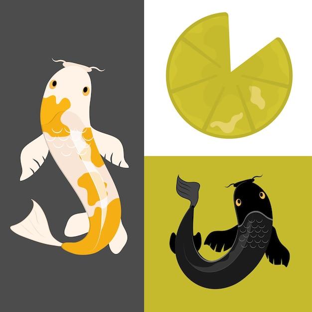 Set di pesci koi