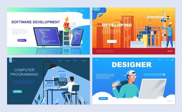 Set di modello di pagina di destinazione per il software