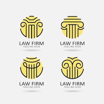 Set di design del logo dello studio legale