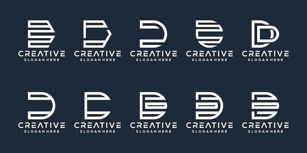 Set di design del logo della lettera d