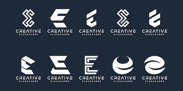 Set di lettere e logo design