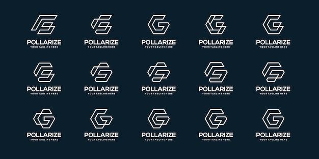 Insieme del modello di affari del logo della lettera g