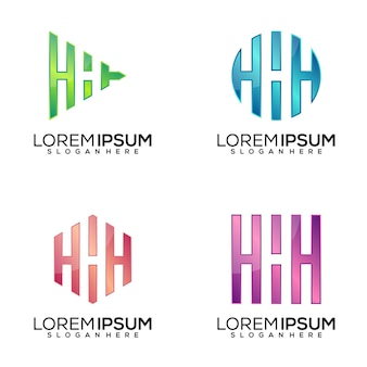 Set di lettera h logo design