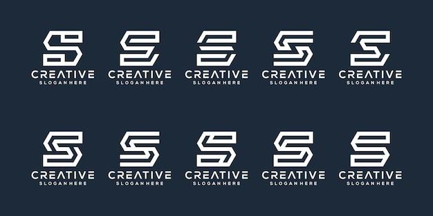Set di design del logo della lettera s