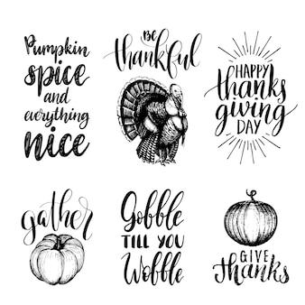 Set di lettere per il giorno del ringraziamento
