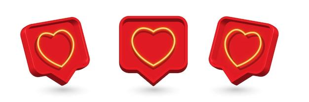 Impostare come il cuore su un perno rosso isolato