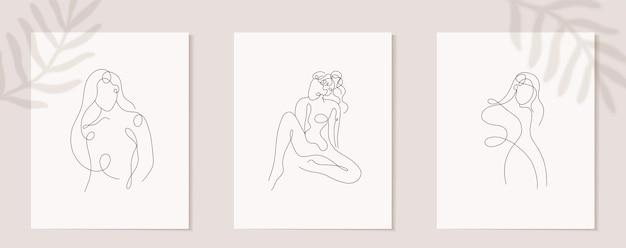 Impostare la figura di donna lineare