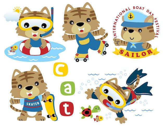 Set di attività di piccoli gatti