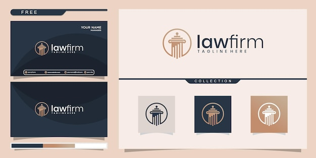 Set di design del logo e biglietto da visita