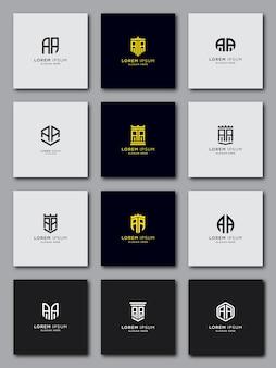 Imposta il modello del logo con le lettere iniziali aa