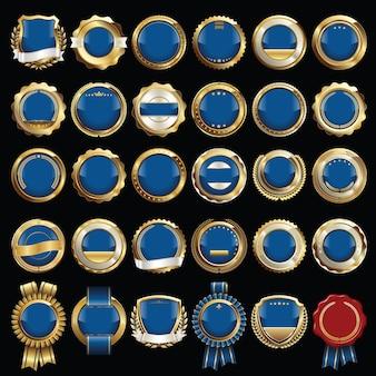 Set di illustrazione di badge di lusso