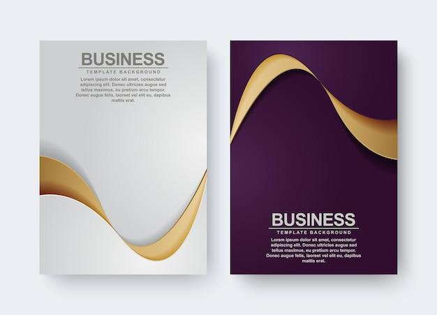 Set di cover di lusso con onda dorata