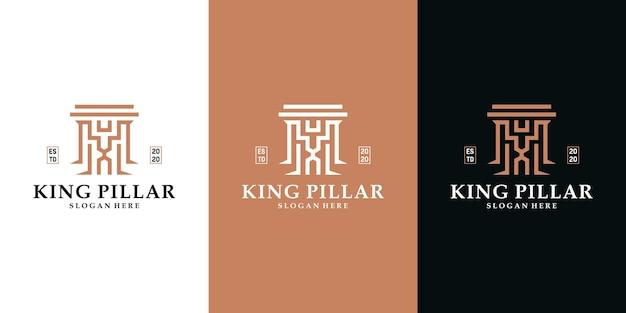 Set di design del logo della giustizia avvocato legale di lusso Vettore Premium