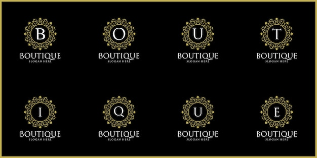 Set di luxury logos boutique logo design