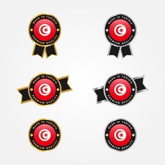 Impostare made in tunisia badge etichette modello di progettazione
