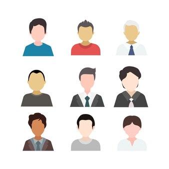 Set di avatar maschile