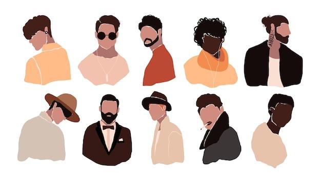 Set di avatar dell'uomo