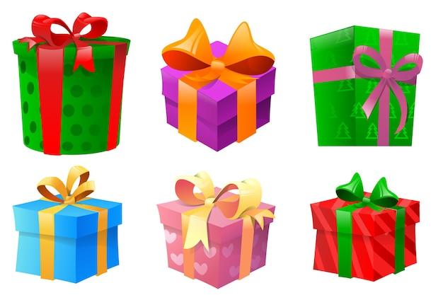 Set di molte scatole regalo