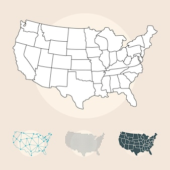 Set di mappe degli stati uniti