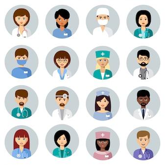 Set di avatar medici
