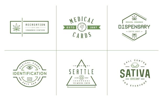 Set di etichette di cannabis medica