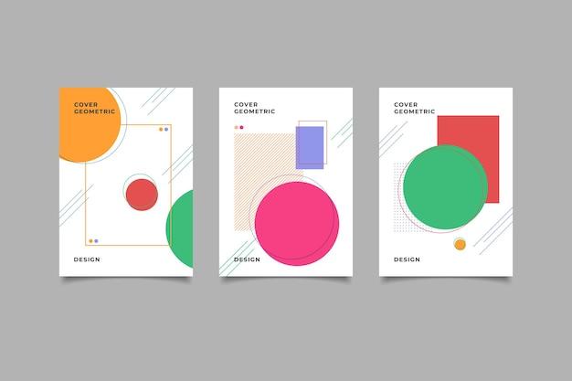 Set di design della copertina di memphis