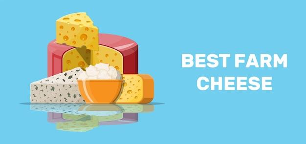 Set di prodotti a base di formaggio di latte