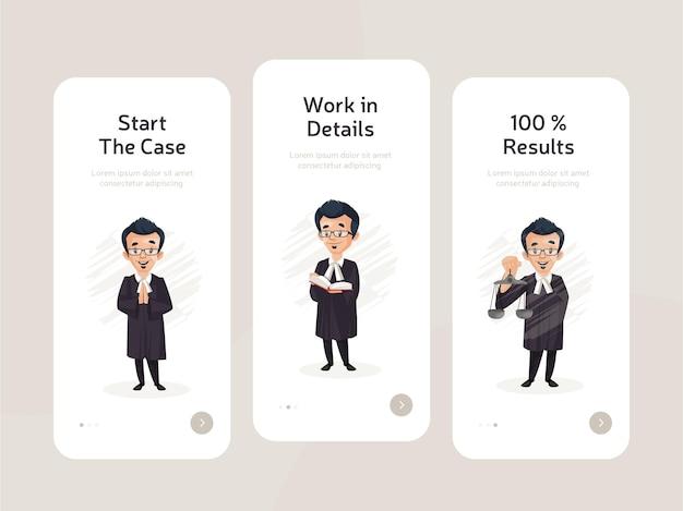 Set di design a schermo piatto di app mobili