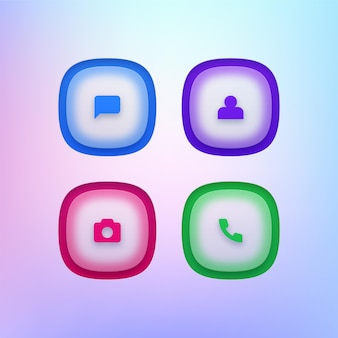 Set di icone di app per telefoni cellulari
