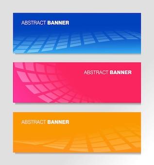 Set di modello di banner business moderno