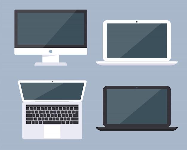 Set di moderni dispositivi elettronici.