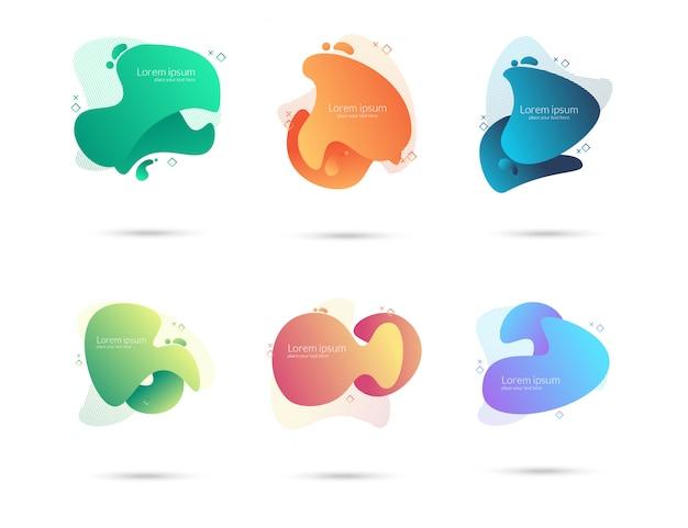 Set di elemento gradiente liquido moderno