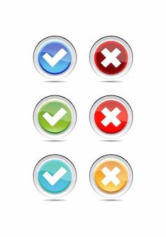 Set di pulsanti di stile materiale moderno per sito web, app mobile e infografica