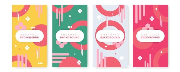 Set di banner di vendita moderna con forme astratte. gradiente geometrico