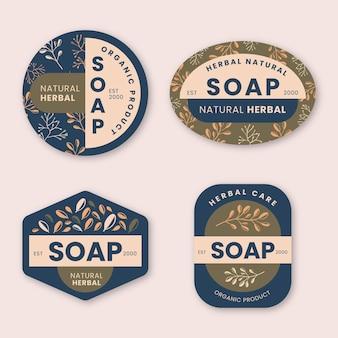 Set di etichette di sapone moderne